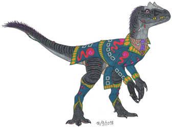 Fancy Allosaurus by Tektalox