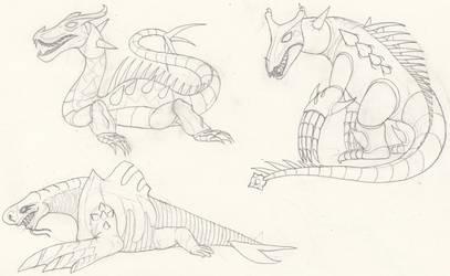 Pelycosaur Kaiju by Tektalox
