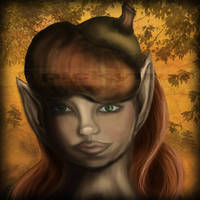 Acorn Girl by Pickyme