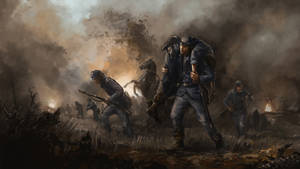 retreat - American civil war by Skvor