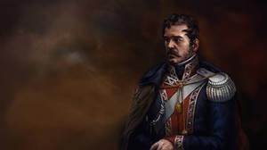 historical portrait, Polish uniform by Skvor