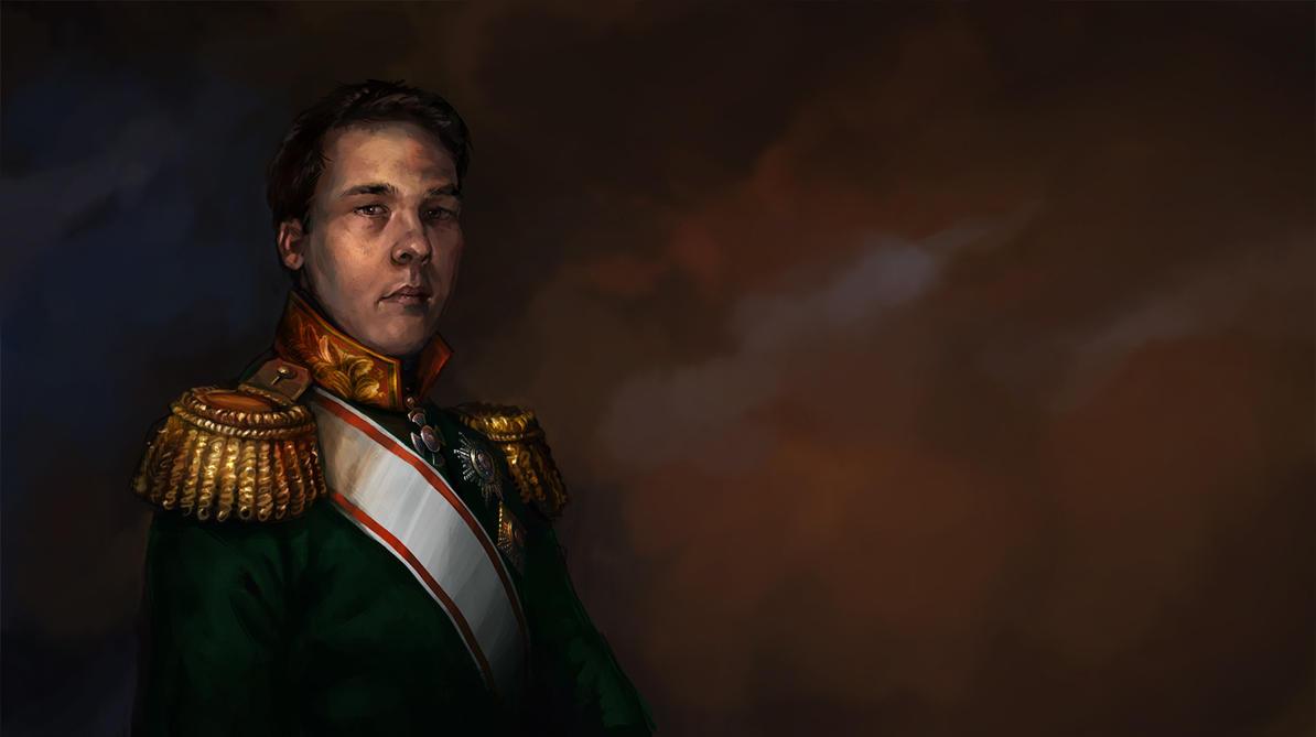 historical portrait, Russian uniform by Skvor