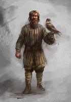 Moravian falconer by Skvor