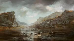 Autumn in the river basin