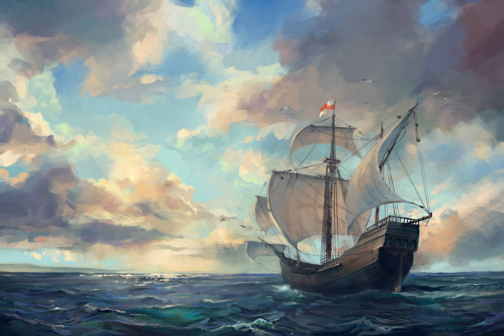 caravel ship by Skvor