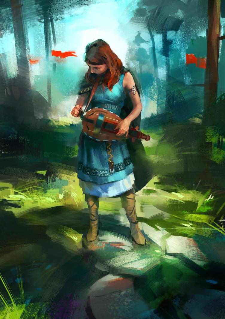 hurdy gurdy by Skvor