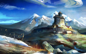 Mountain fortress by Skvor