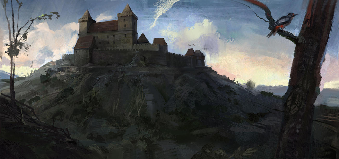 castle as it once stood by Skvor