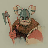 Viking horned helmet by Skvor