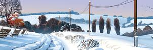 czech winter landscape