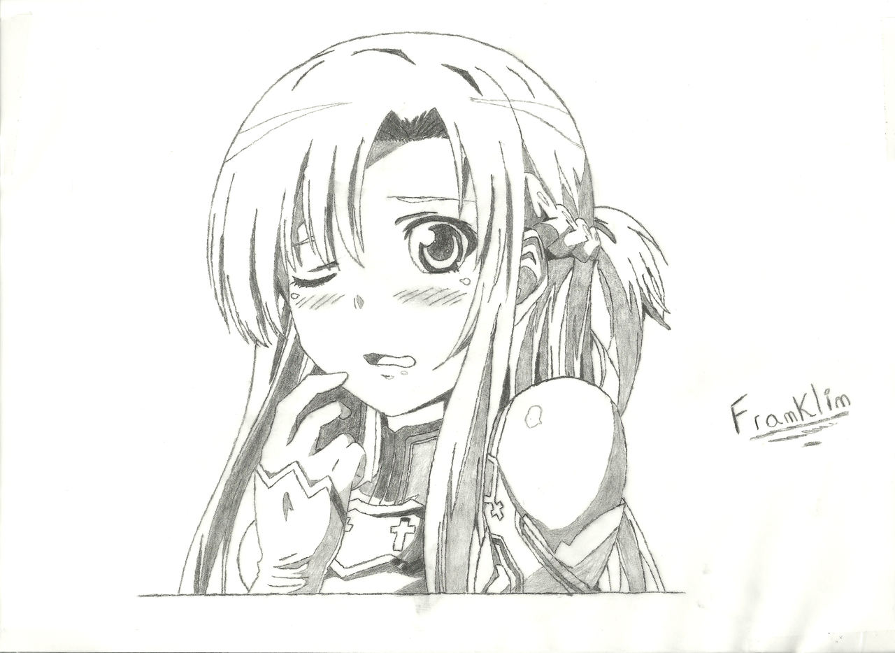 Asuna Sword Art Online Draw By Franklinsouza On Deviantart