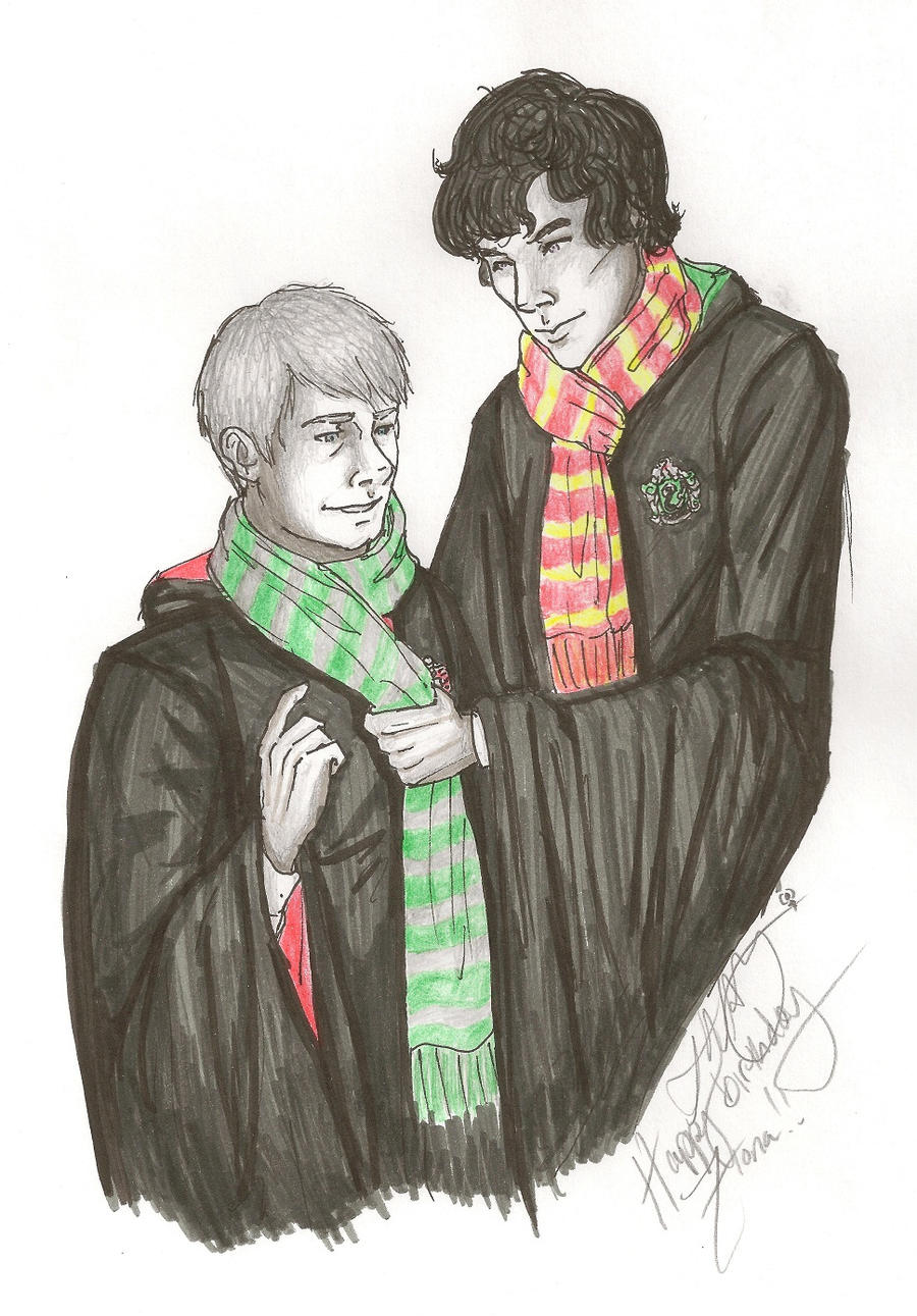 -:.Christmas.:- Sherlock+HP by Youko-Sway