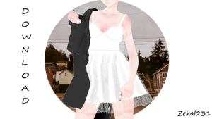 [MMDXSims4] Jacket With Shasha Dress +DL