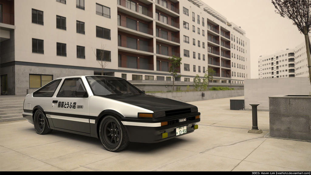 initial d ae86 sprinter trueno by reeflotz on deviantart. Black Bedroom Furniture Sets. Home Design Ideas