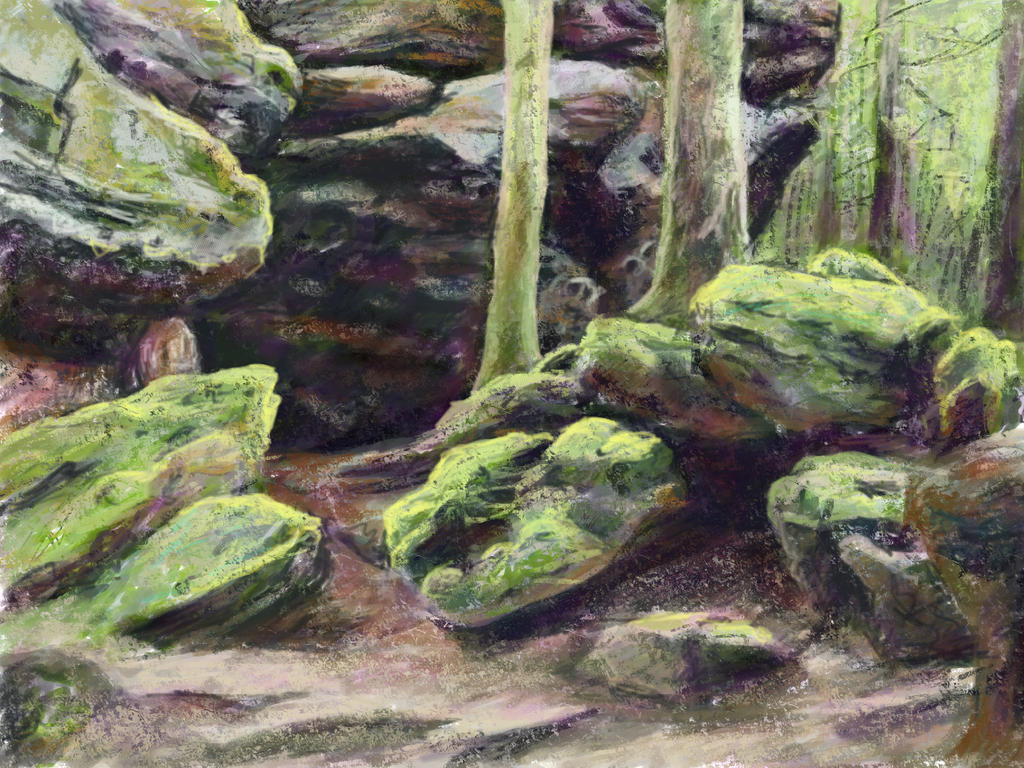 Landscape study by mdlillustration