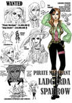 One Piece OC Ladgerda Sparrow
