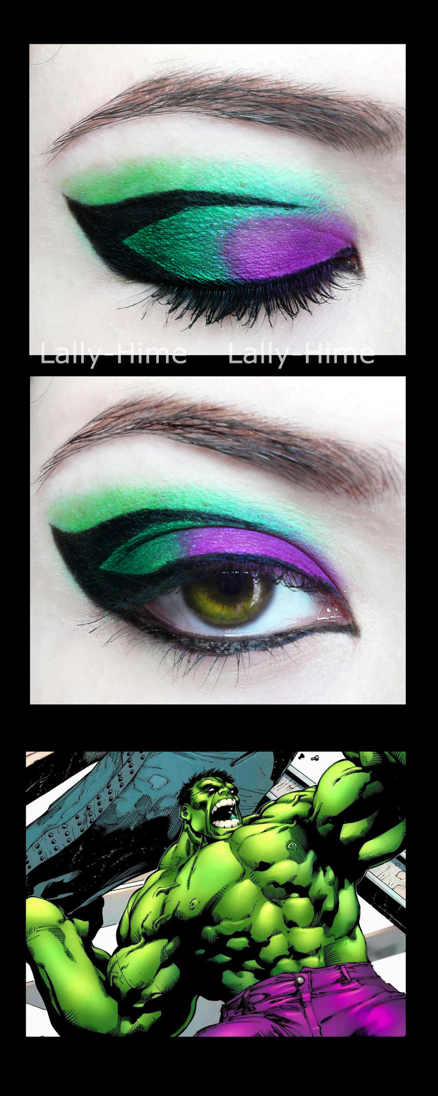 The Heroes- Hulk Make Up by Lally-Hime