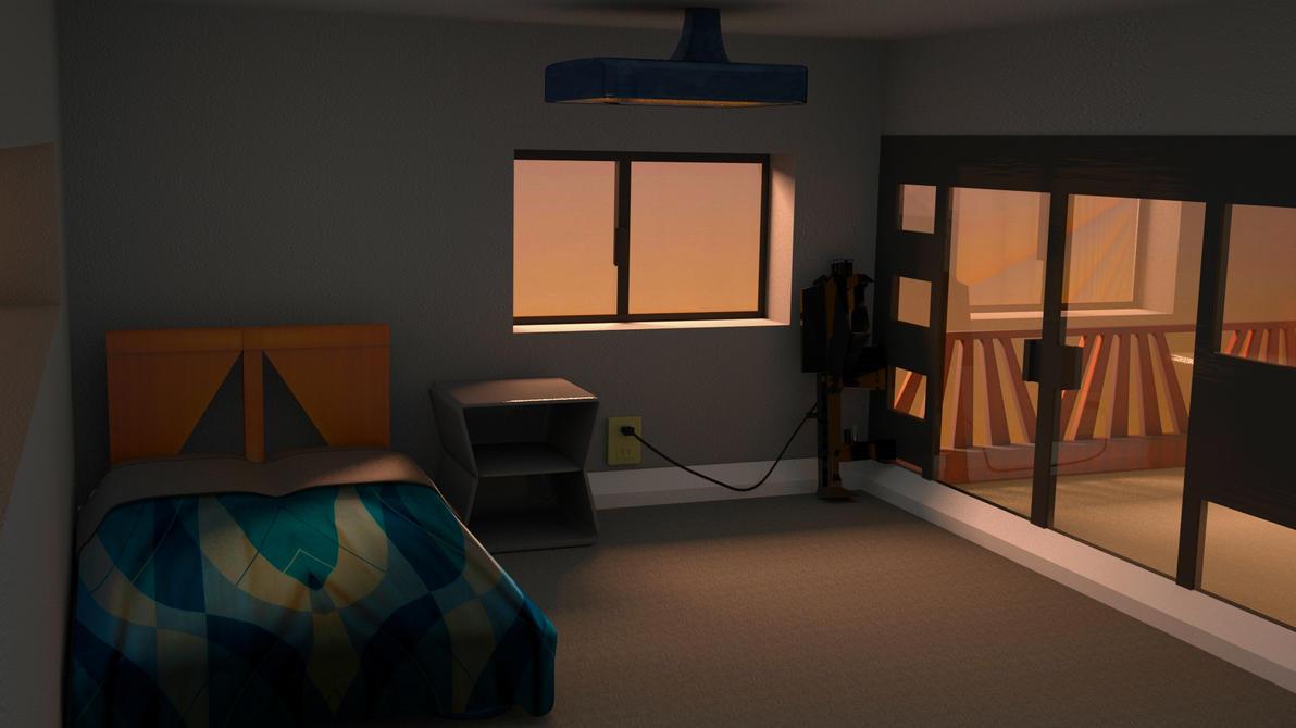 Sunset bedroom by cs098. Sunset bedroom by cs098 on DeviantArt