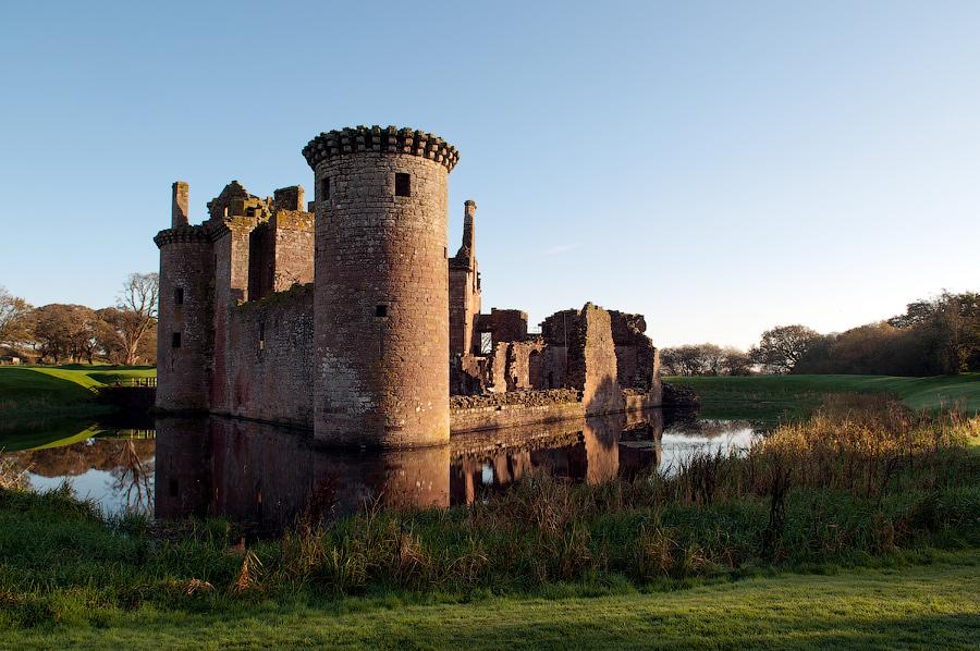 October Scotland - Caerlaverock Castle I by Ziw