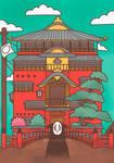 Kaonashi - Spirited Away Fanart by erikaibaceta
