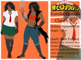My Hero Academia OC: Kamiko Himura by The-Ice-Virus