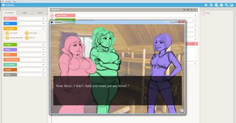 Chubbettes: Visual Novel collab w/ Jelliroll by mcoddles