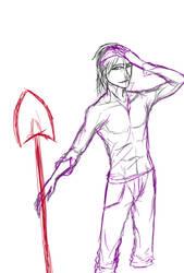 Random shovel guy (sketch/doodle)