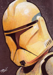 Clone Trooper Sketch Card by Ethrendil