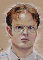 Dwight Shrute Sketch Card by Ethrendil