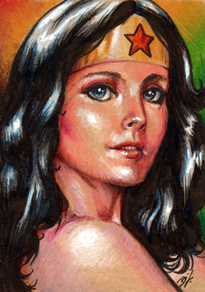 Wonder Woman Sketch Card by Ethrendil