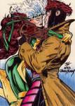 Gambit and Rogue Kubert Homage