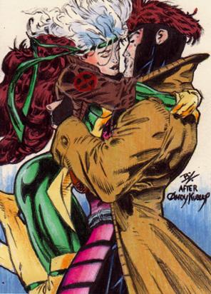 gambit and rogue kiss - photo #3