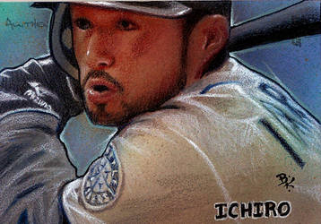 Ichiro 2010 Topps Sketch Card by Ethrendil