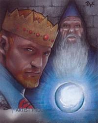King Arthur and Merlin by Ethrendil