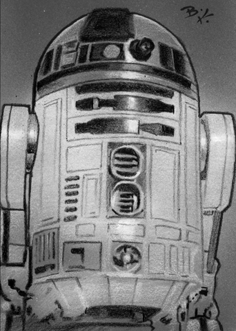 R2d2 Black And White R2D2 black and white P...