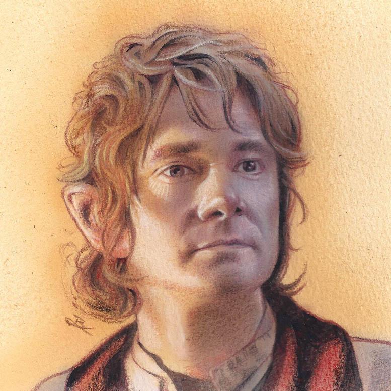Bilbo Baggins acrylic painting by Ethrendil