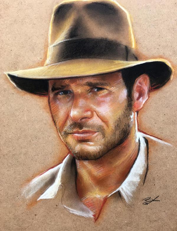 Indiana Jones 11x14 by Ethrendil