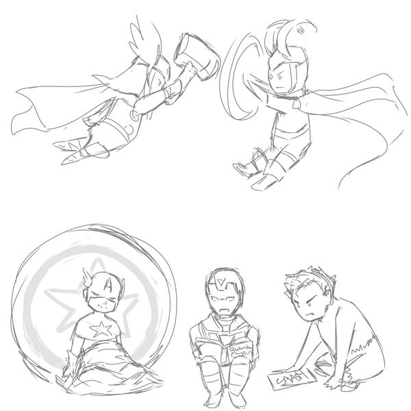 Avenger Babies by IslandMyths