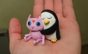 Adventure Time Gunter Hug by JWBeyond