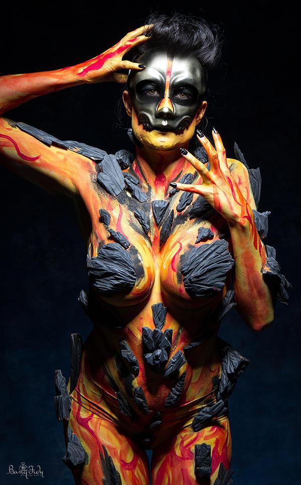 Human Body Paint Alien