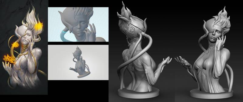 Lotus Project 1 3D Sculpt