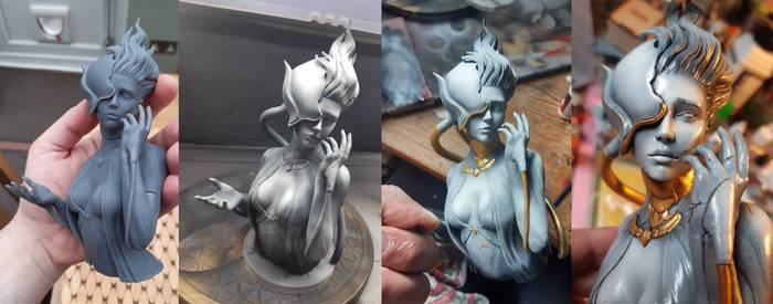 Lilium Lotus 1 Resin Print and Paint
