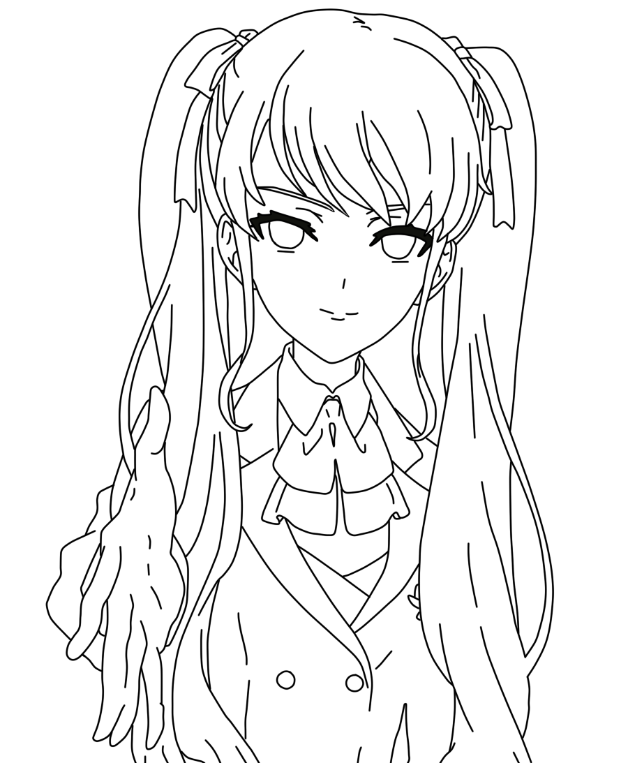 Yandere simulator coloring pages coloring pages Coloring book templates