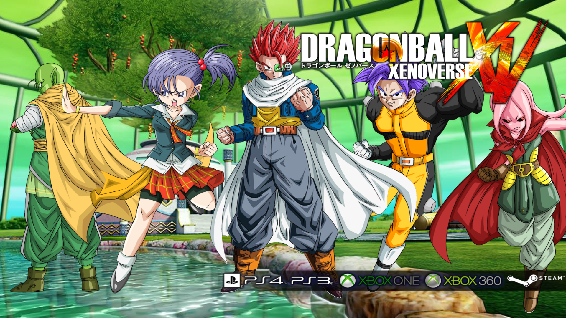 Dragon ball xenoverse poster background by veku786 on deviantart