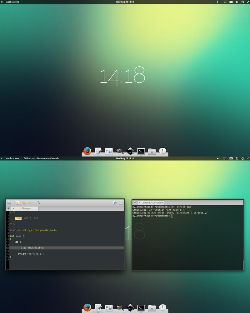 elementary Desktop by TheVirtualDragon