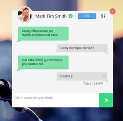 Daily UI Challenge 13: Direct Messaging by TheVirtualDragon