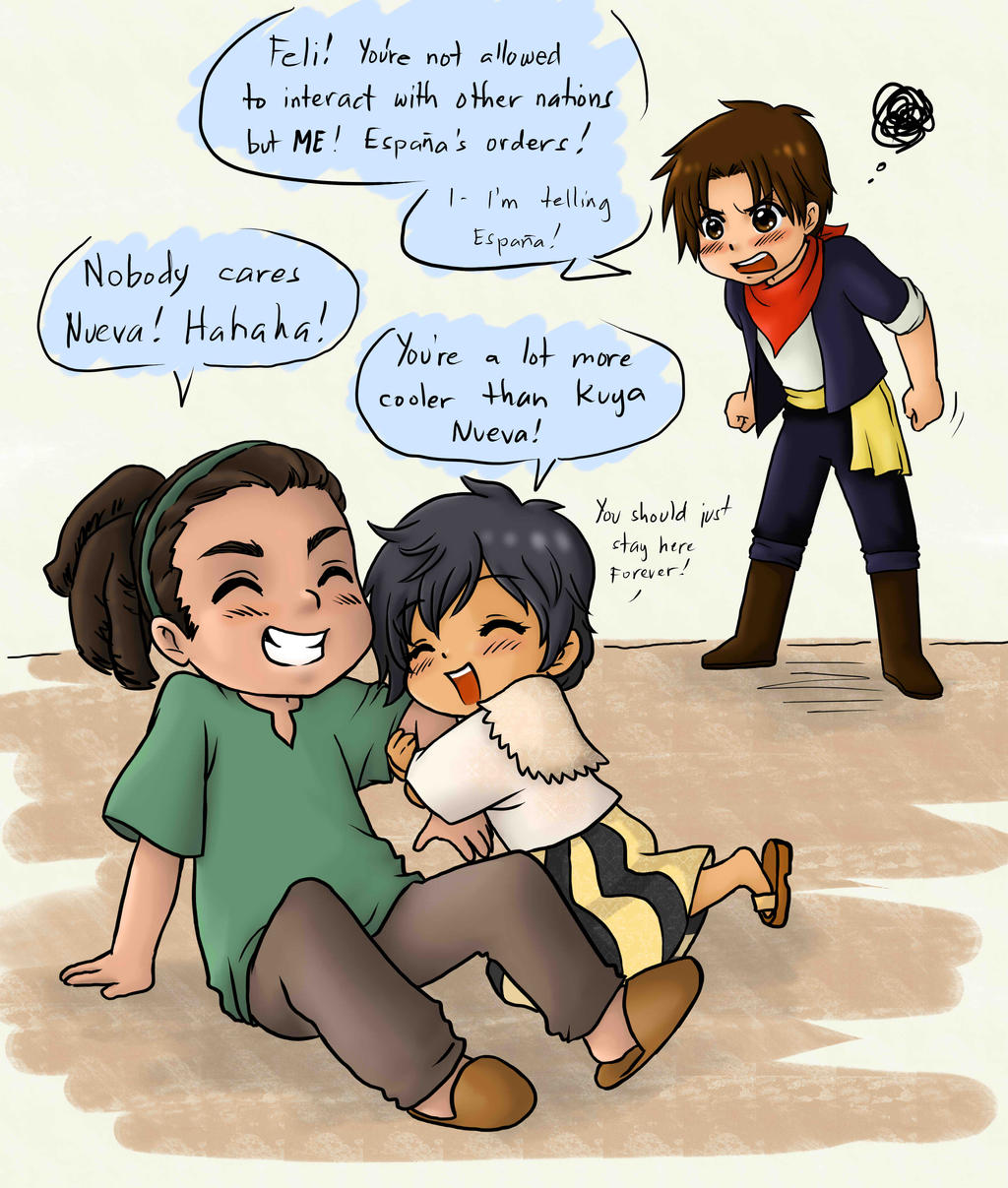 Play time with Kuya Cuba-colored by randomsketchez