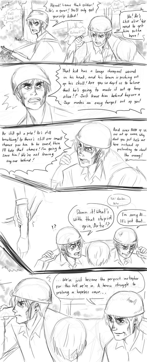 APH line up Random Comics - Abandon by randomsketchez