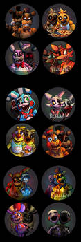 Fnaf Full Button Set
