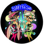 Squid Sisters Button